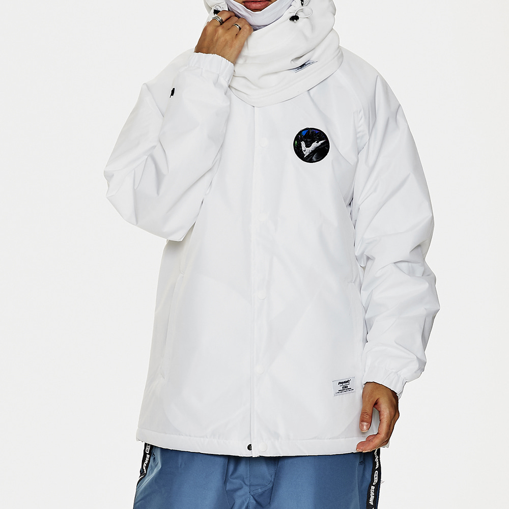 BSRABBIT BSR WARM COACH JACKET WHITE