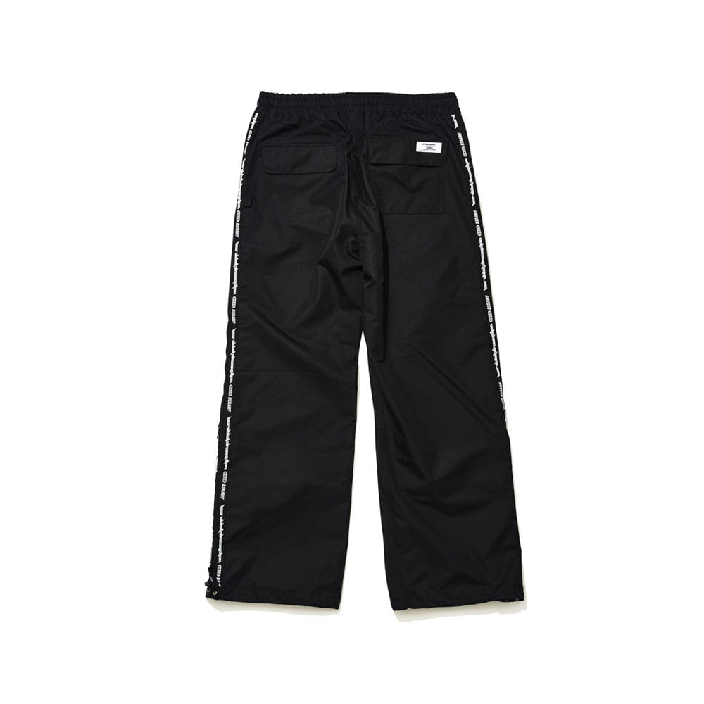 BSRABBIT DOUBLE LINE TAPE TRACK PANTS BLACK