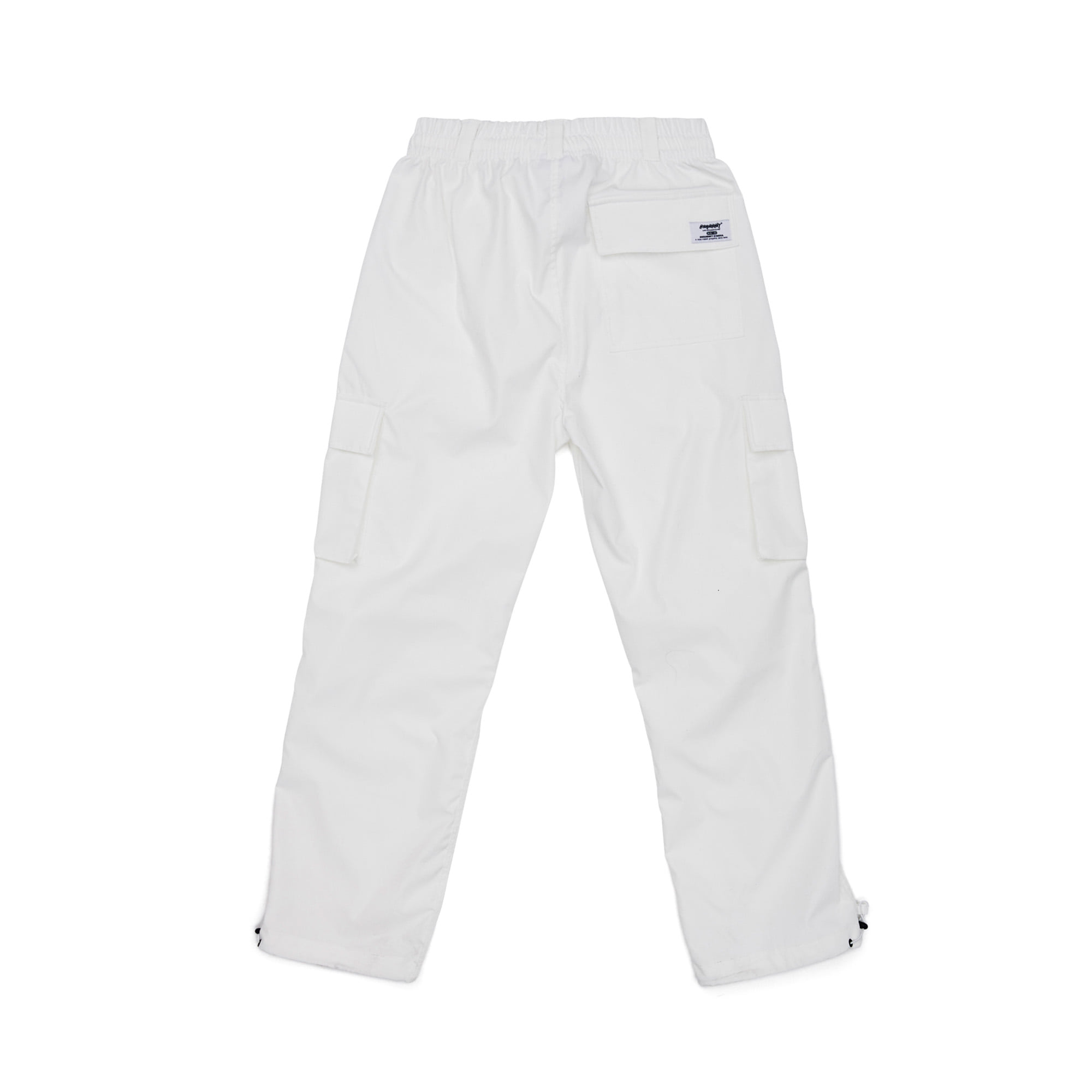 BSRABBIT BSRBT STRETCH TWILL CARGO TRACK PANTS WHITE