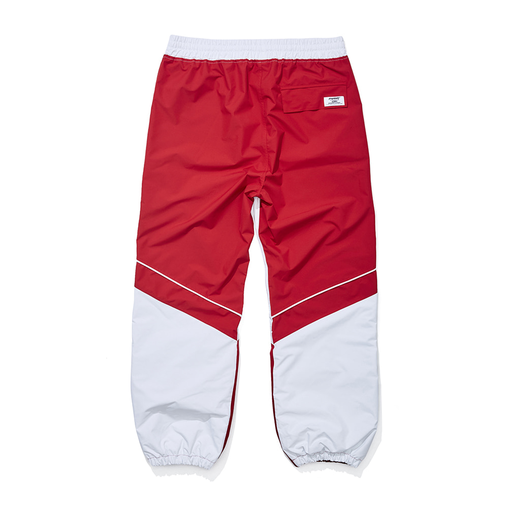 자체브랜드 BSRBT JOGGER PANTS WHITE / RED