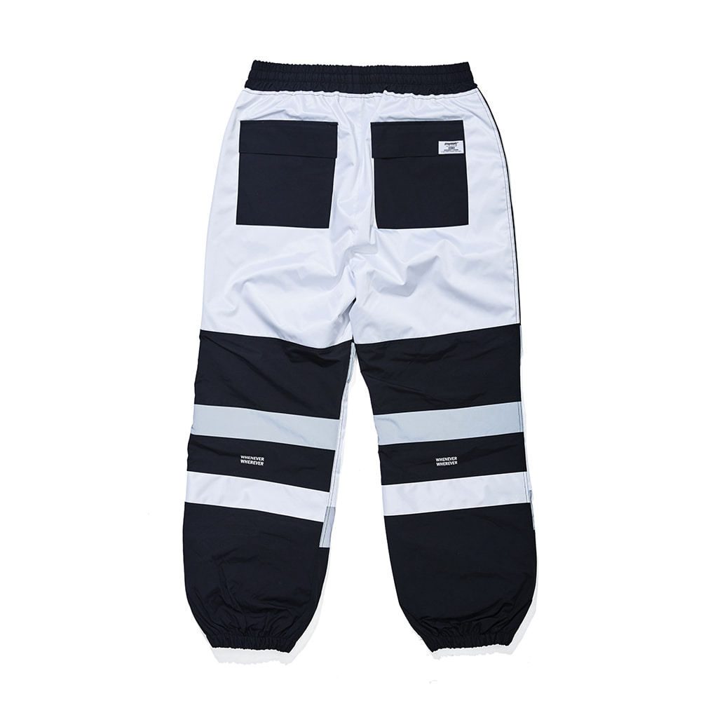자체브랜드 BOX DOUBLE LINE REFLECTIVE JOGGER PANTS BLACK