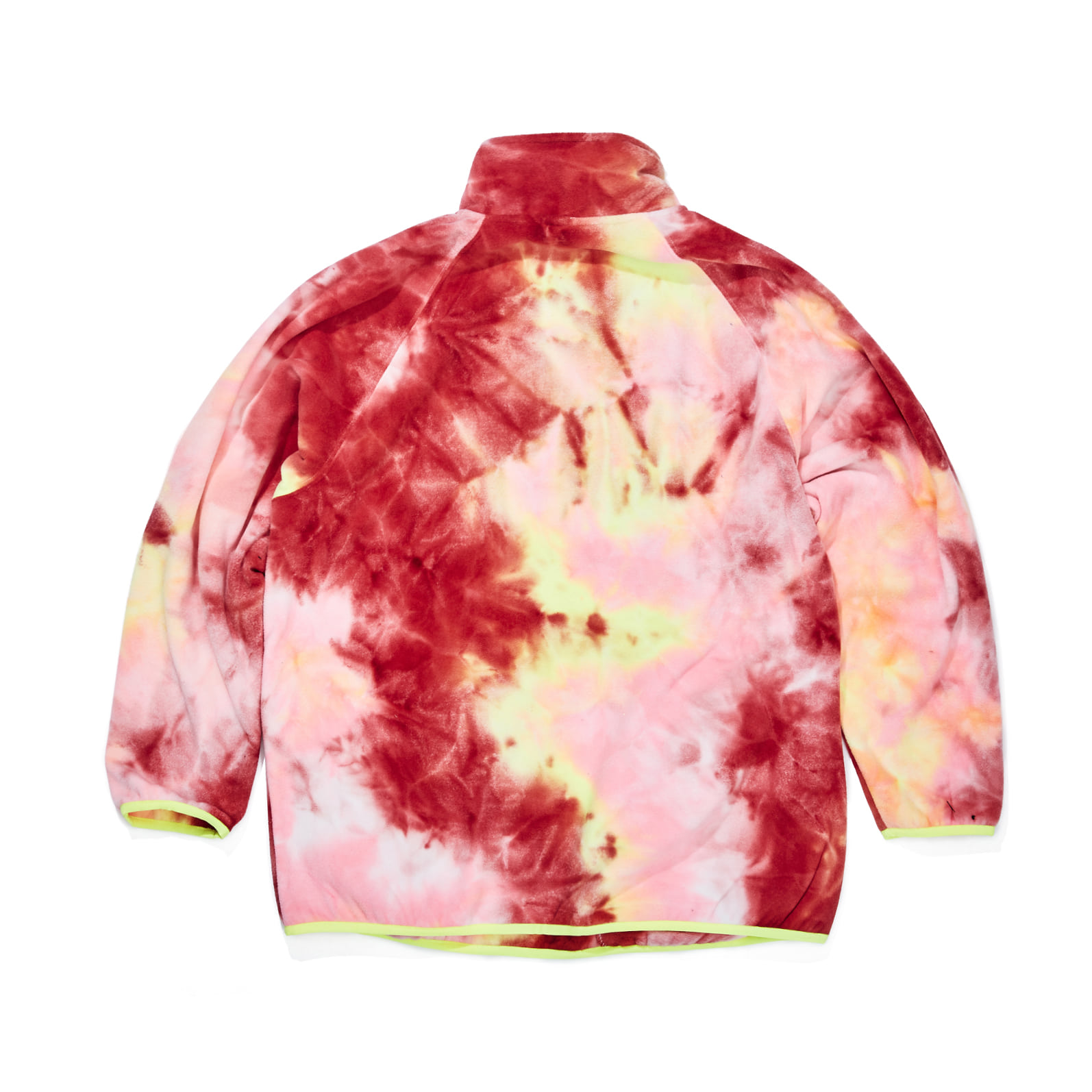 자체브랜드 LOGO FLEECE HN ZIPUP TIE DYE RED / YELLOW