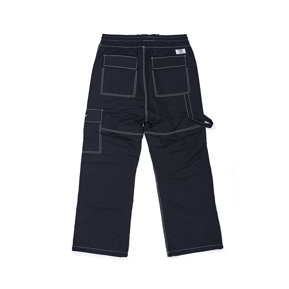자체브랜드 STITCH ONE POCKET TRACK PANTS BLACK