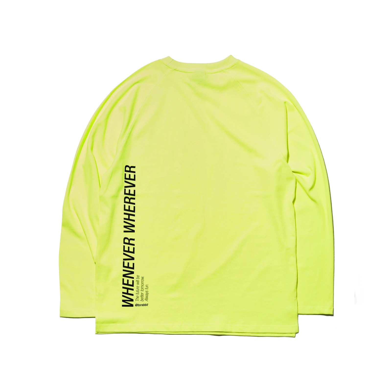 자체브랜드 LOGO LAYERED LONG SLEEVE  TEE FLUORESCENCE