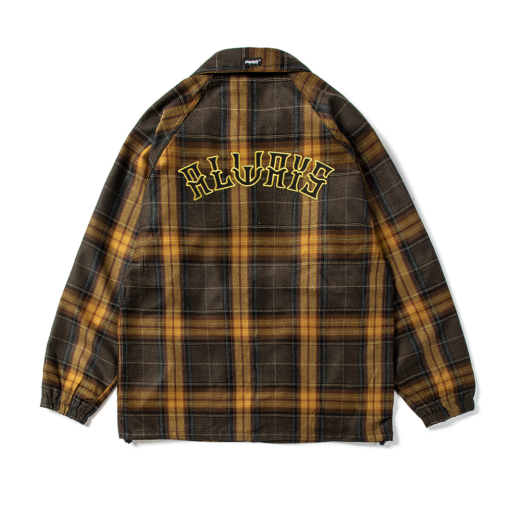 자체브랜드 ALWAYS COACH JACKET CHECK MUSTARD