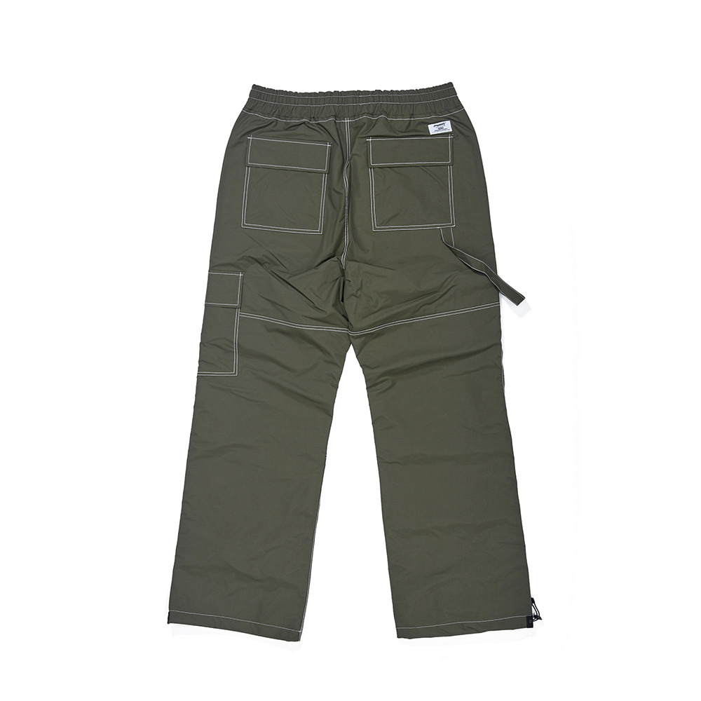 자체브랜드 STITCH ONE POCKET TRACK PANTS OLIVE