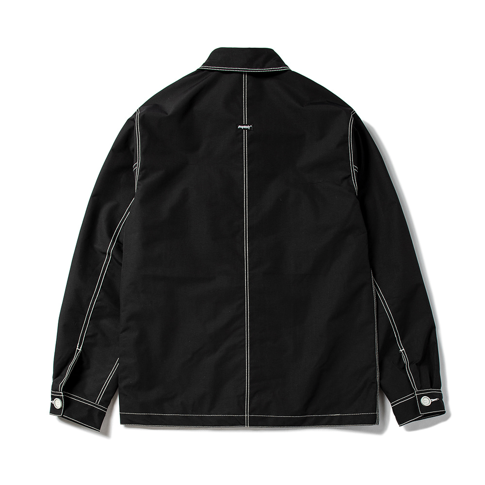 자체브랜드 STITCHES BUTTON COACH JACKET BLACK