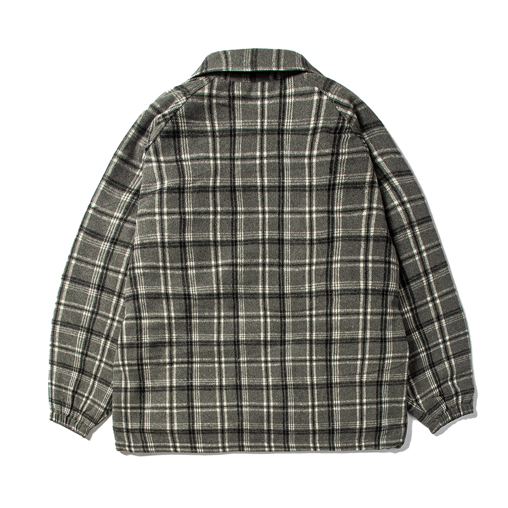자체브랜드 BETTER THAN CHECK ANORAK SHIRT GRAY CHECK