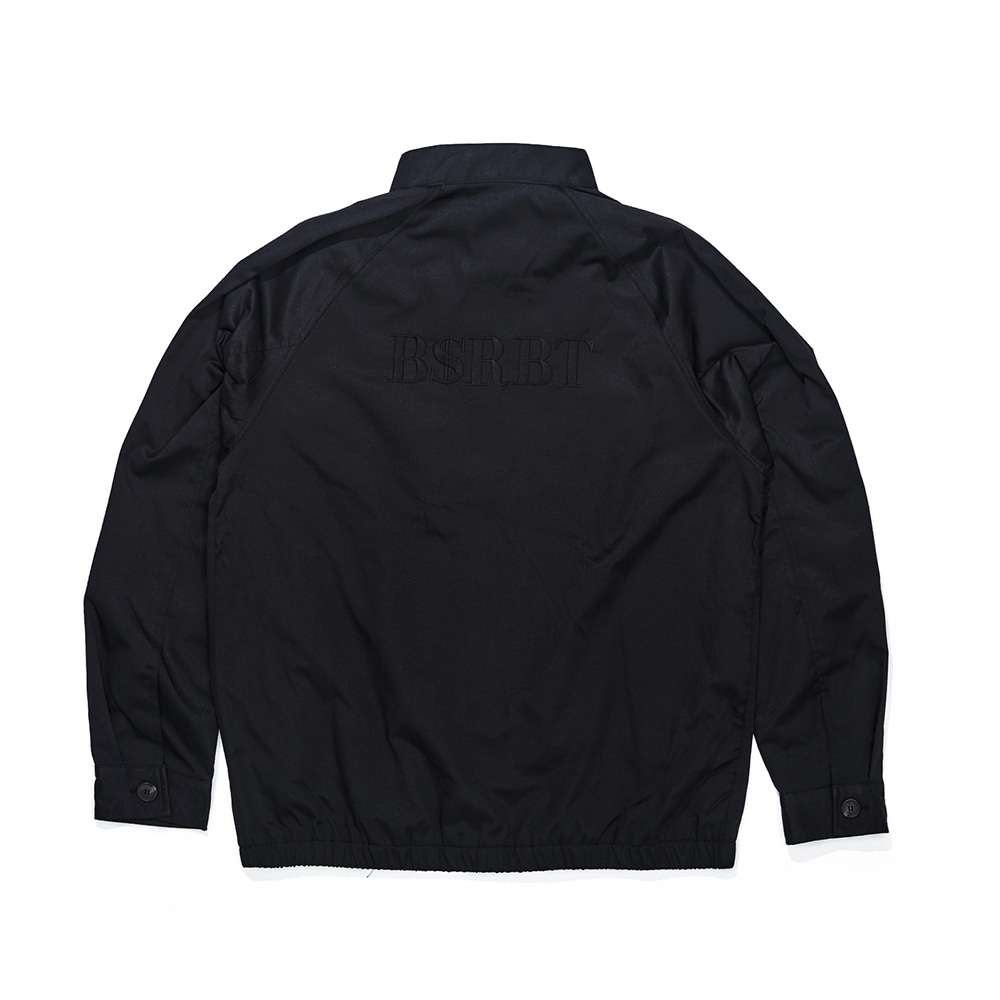 자체브랜드 OG LOGO HARRINGTON JACKET BLACK
