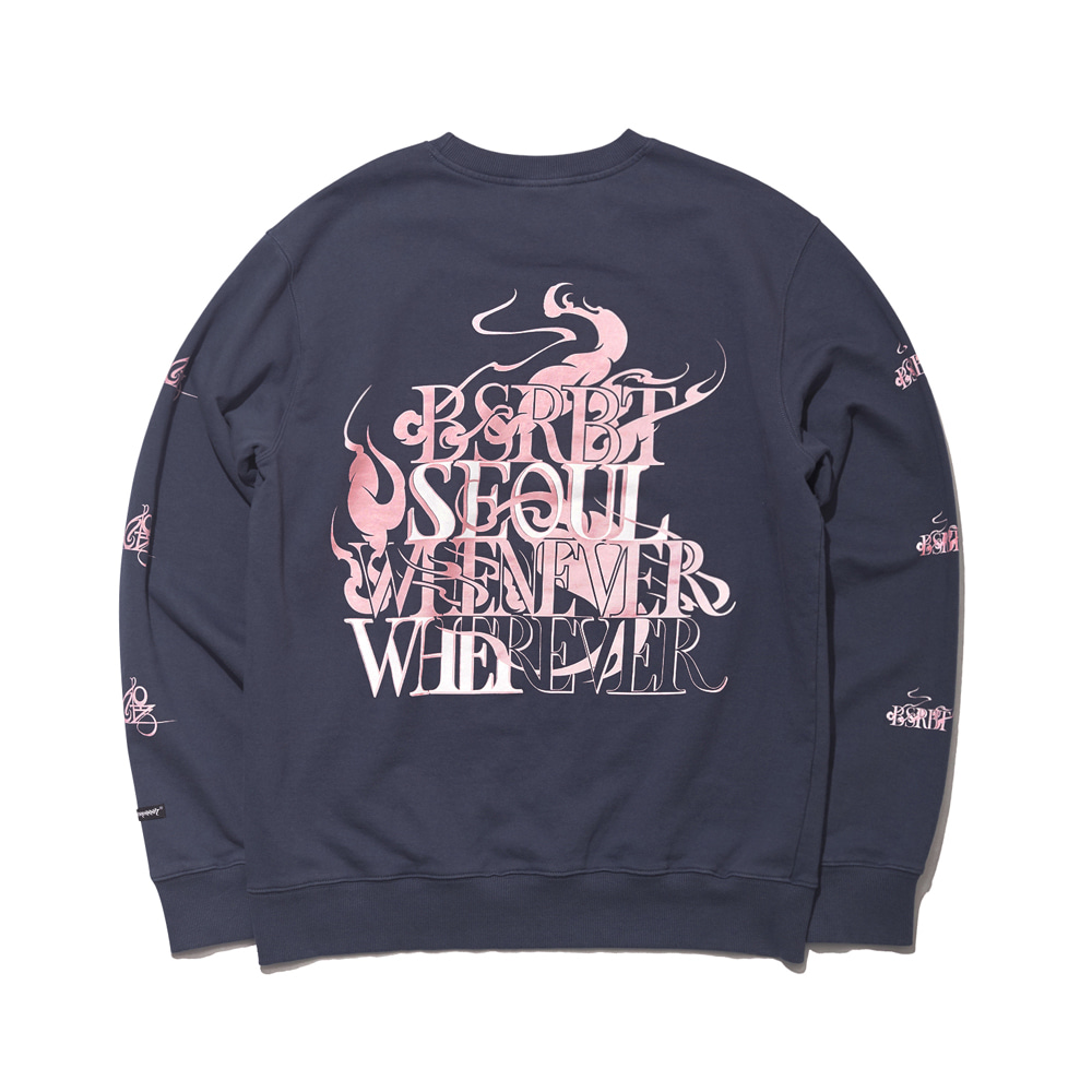 자체브랜드 SEOUL WELCOME DRY SWEAT SHIRT NAVY