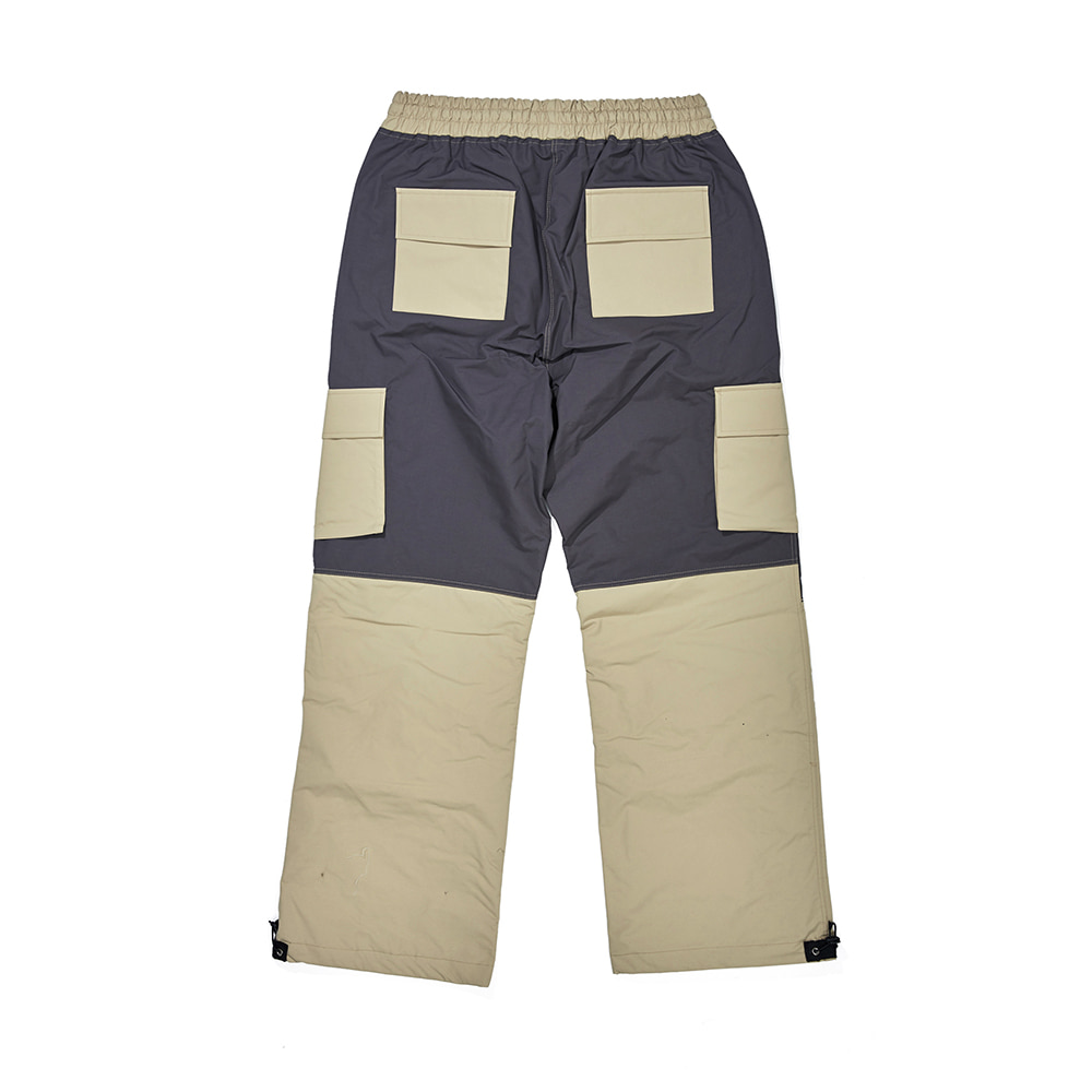 자체브랜드 CARGO POCKET BOX TRACK PANTS SAND