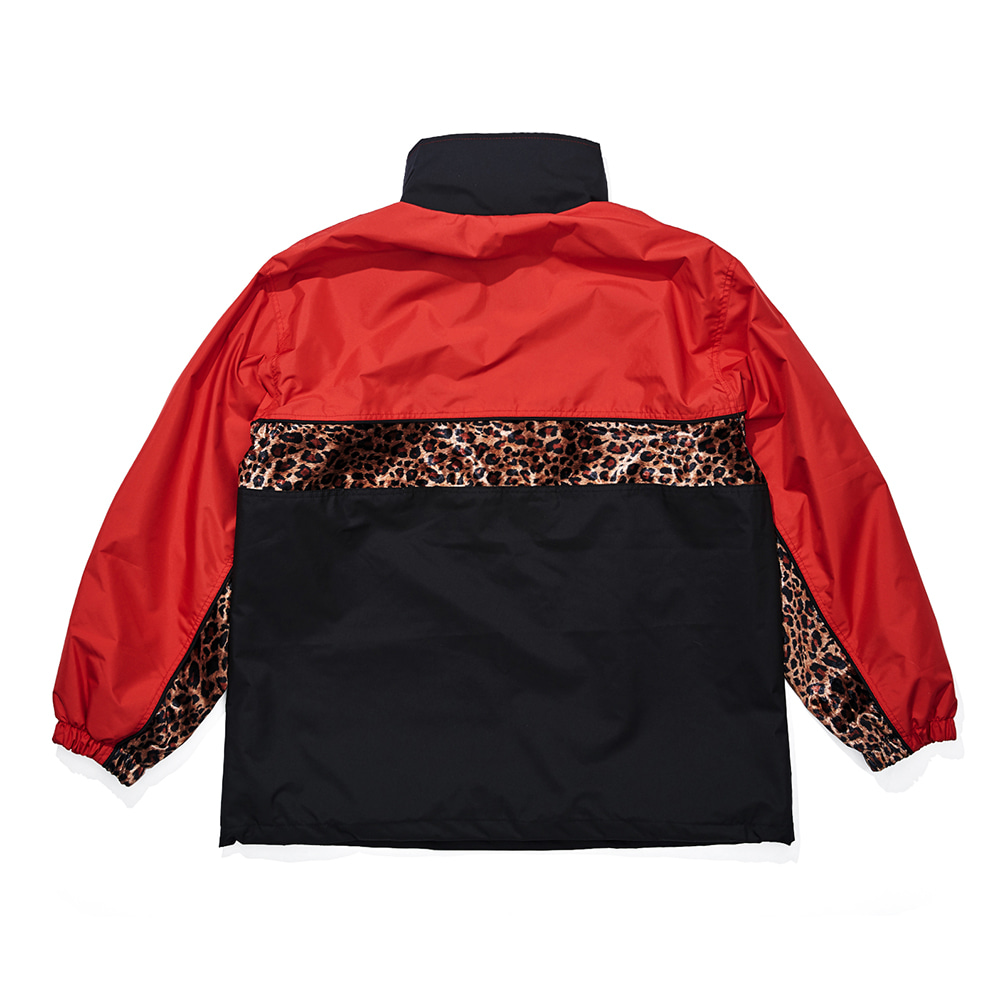 자체브랜드 DSXBR OVER ANORAK JACKET RED/BLACK