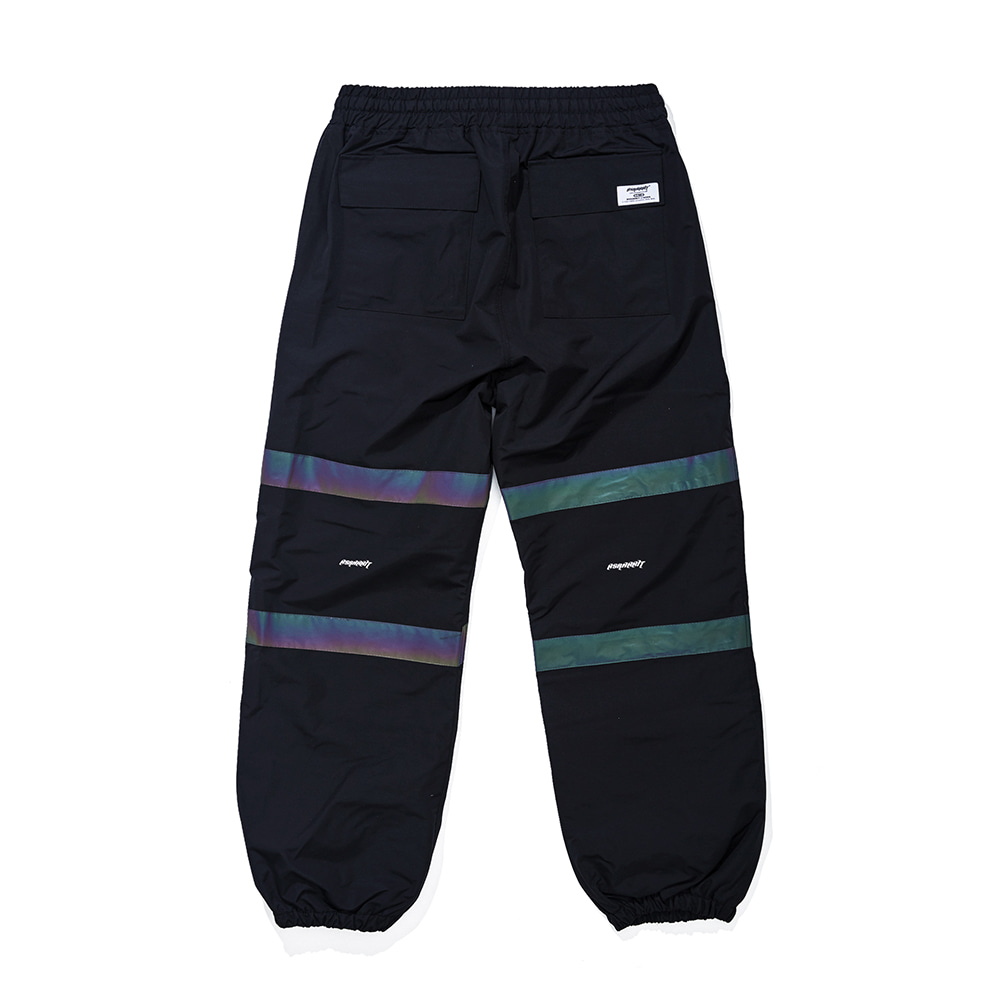 자체브랜드 POT-X RAINBOW REFLECTIVE JOGGER PANTS BLACK