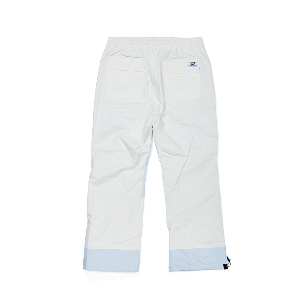 자체브랜드 DOUBLE BOX TRACK PANTS WHITE / SKY