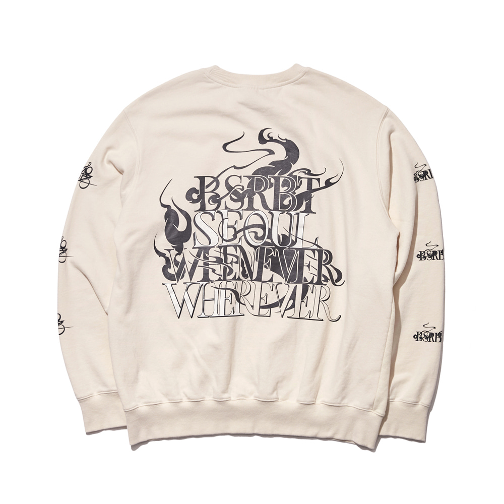 자체브랜드 SEOUL WELCOME DRY SWEAT SHIRT CREAM