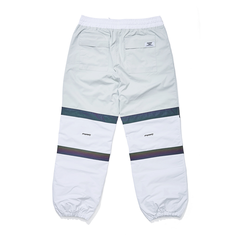 자체브랜드 POT-X RAINBOW REFLECTIVE JOGGER PANTS WHITE