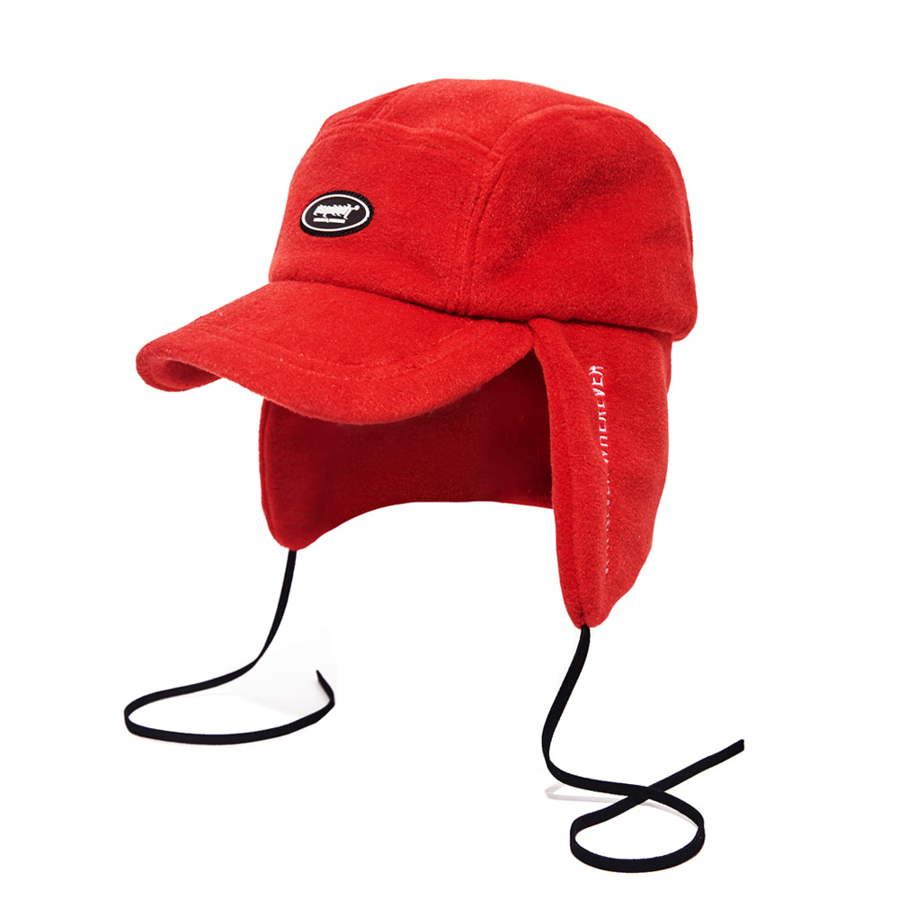 자체브랜드 BSW FLEECE EARFLAP CAP RED