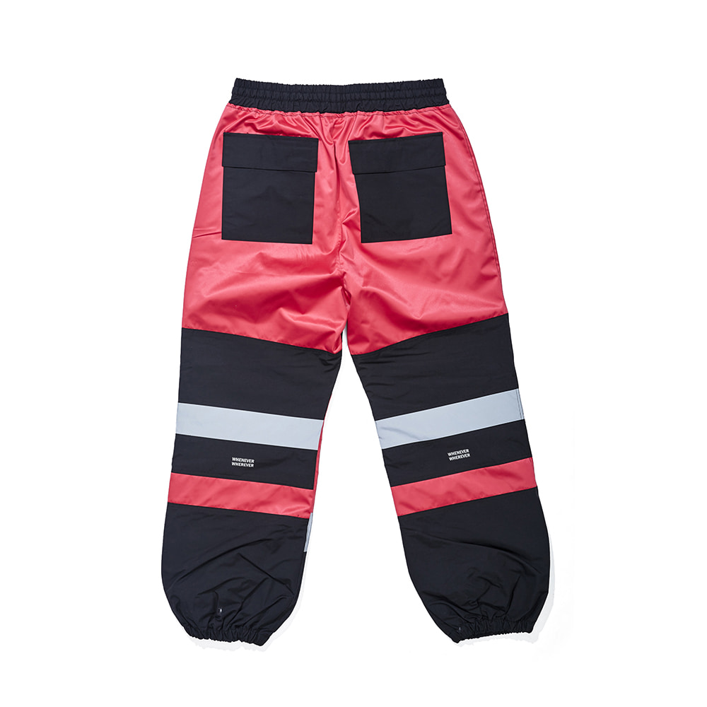 자체브랜드 BOX DOUBLE LINE REFLECTIVE JOGGER PANTS HOT PINK