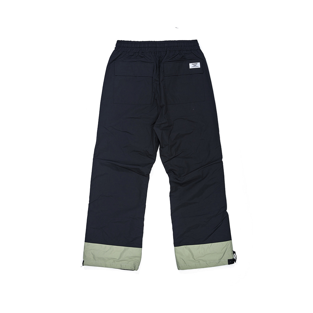 자체브랜드 DOUBLE BOX TRACK PANTS BLACK / OLIVE