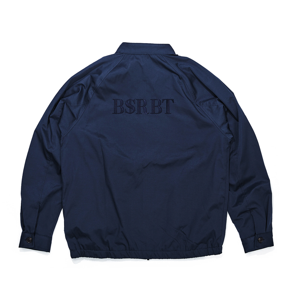자체브랜드 OG LOGO HARRINGTON JACKET NAVY