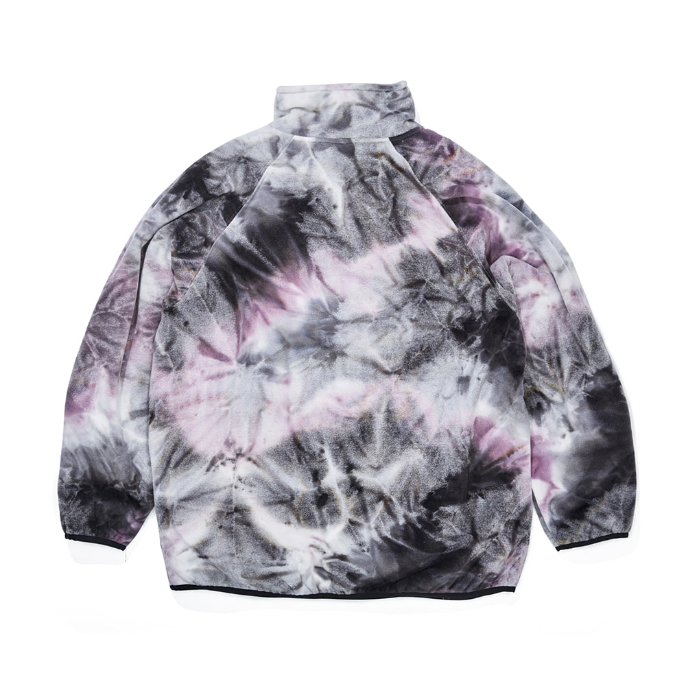 자체브랜드 LOGO FLEECE HN ZIPUP TIE DYE BLACK / PURPLE