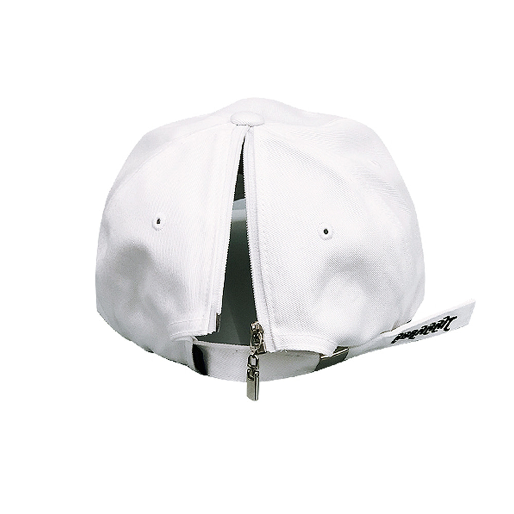 자체브랜드 GR OPEN ZIPPER CAP WHITE
