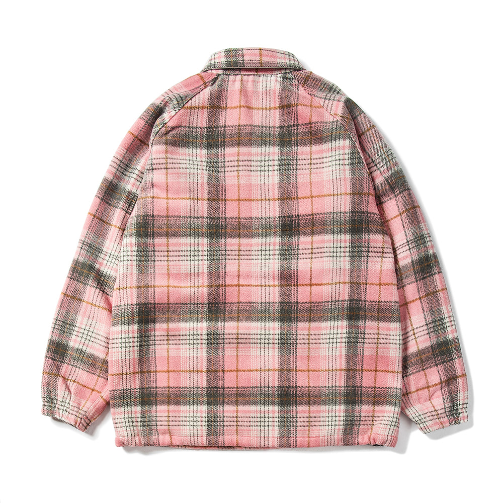 자체브랜드 BETTER THAN CHECK ANORAK SHIRT PINK CHECK