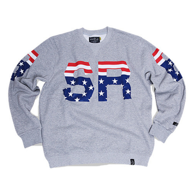 BSRB USA CREWNECK GRAY