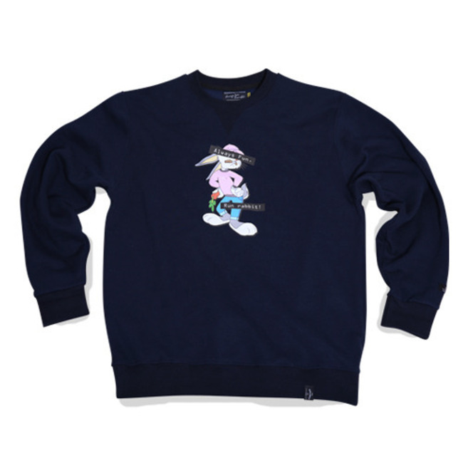 RUN RB CREWNECK NAVY