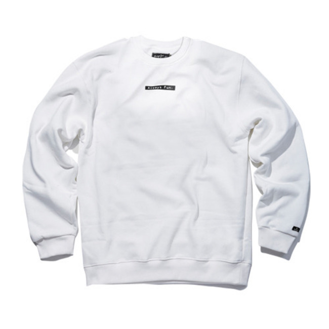 ALWAYS FUN CREWNECK WHITE