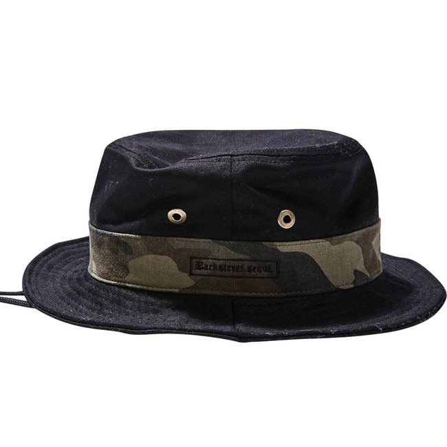 BS.invincible bucket hat BLACK