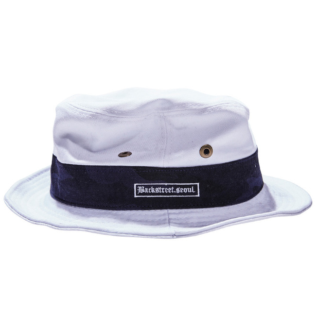 BS.invincible bucket hat WHITE