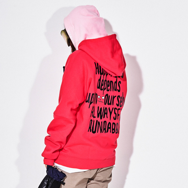 HAPPINESS HOODIE HOTPINK