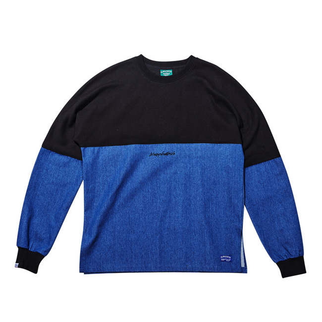 Unique DENIM CREWNECK BLACK