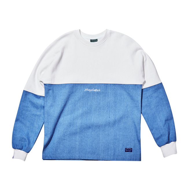 Unique DENIM CREWNECK WHITE