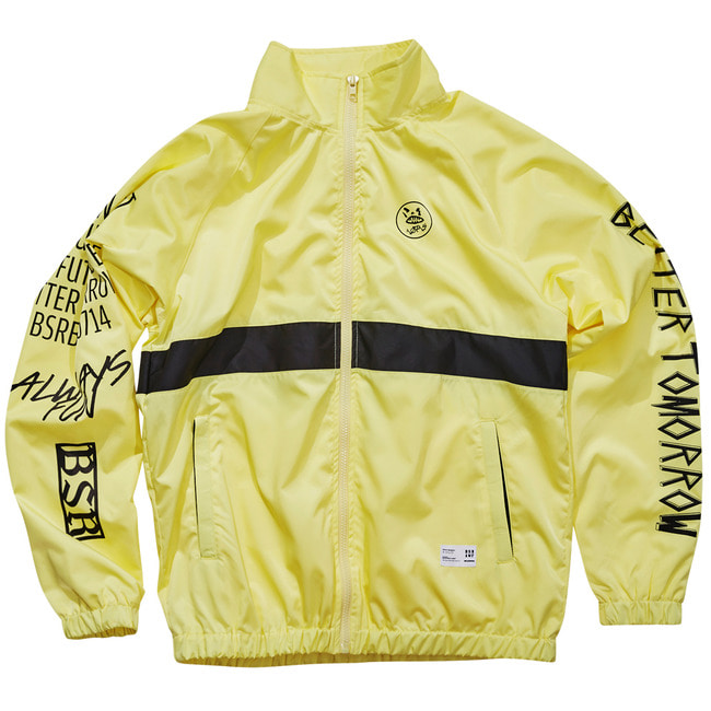 Crush track jacket Fluorescence