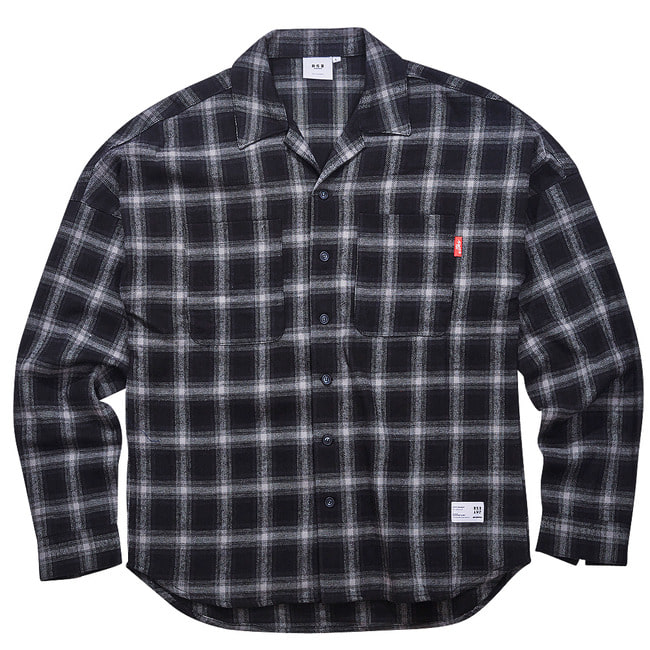 BSRABBIT BR CHECK SHIRT BLACK