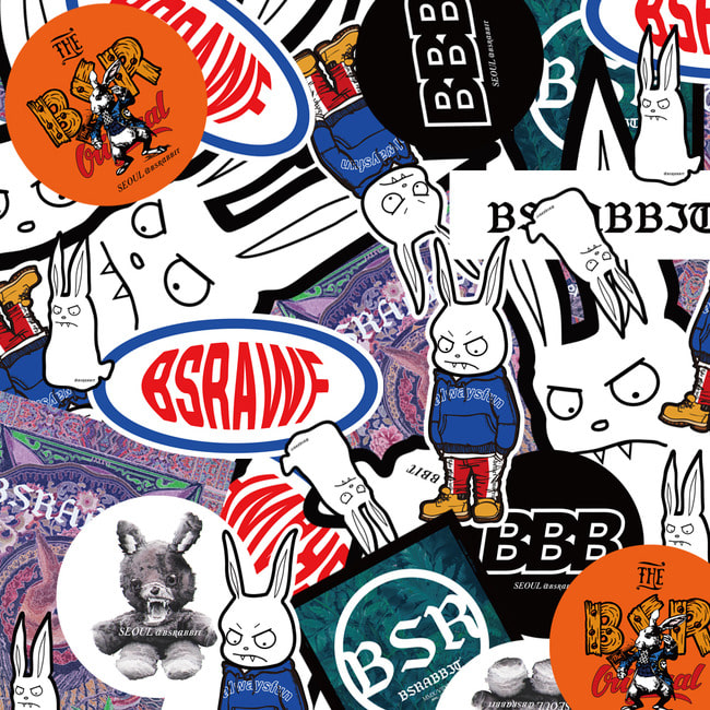 BSRABBIT Sticker pack(10개입)