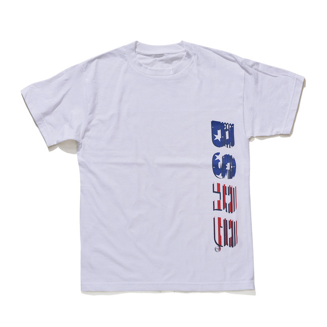 BSRABBIT BSRB USA T-SHIRT WHITE