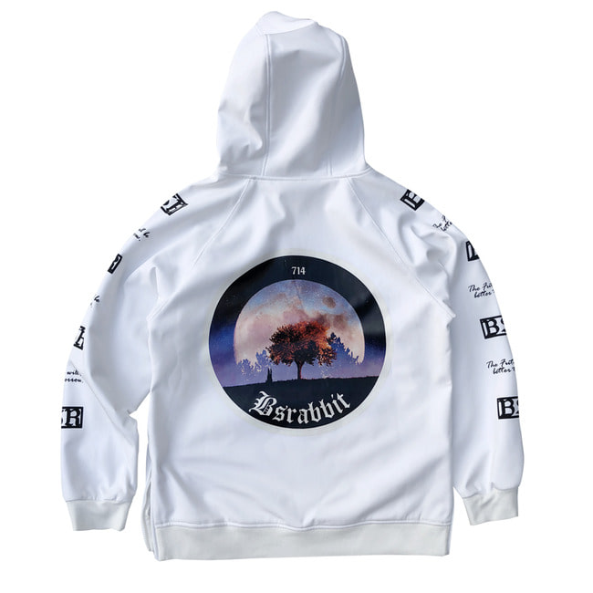 MOONRABBIT WATERPROOF HOODIE WHITE [10월10일 발송]