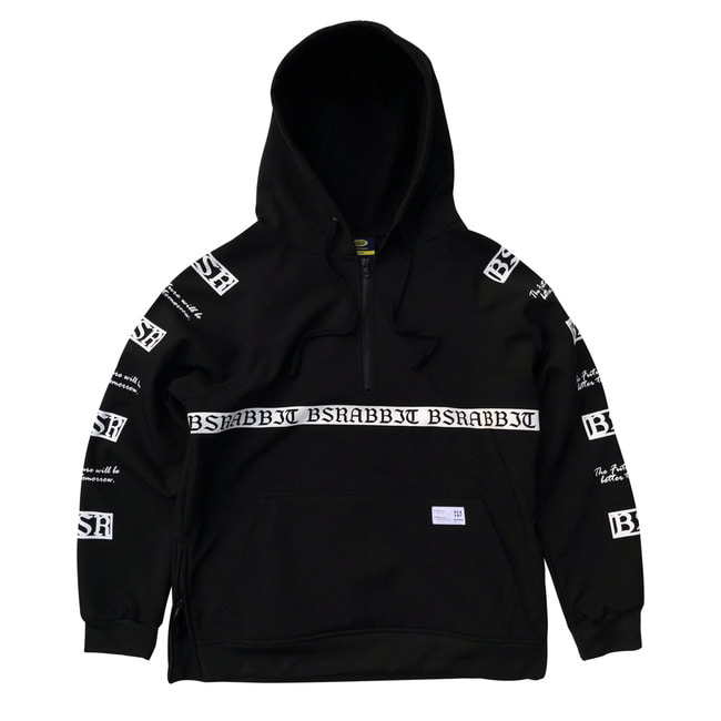 MOONRABBIT WATERPROOF HOODIE BLACK