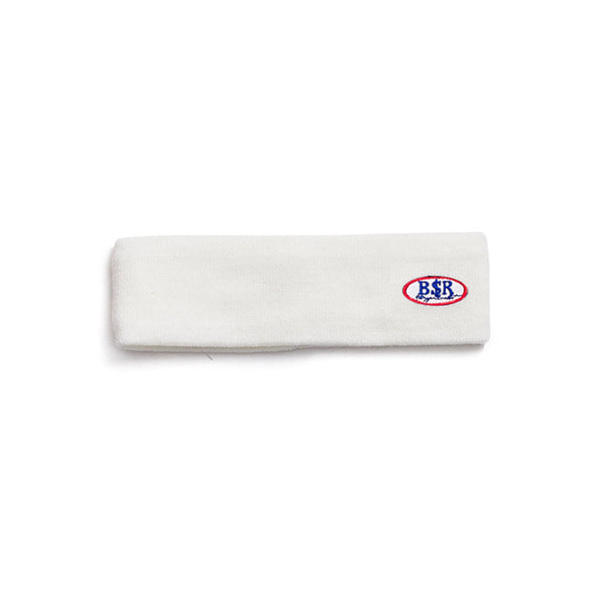 BSRABBIT BSR WAPPEN KNIT HEADBAND WHITE
