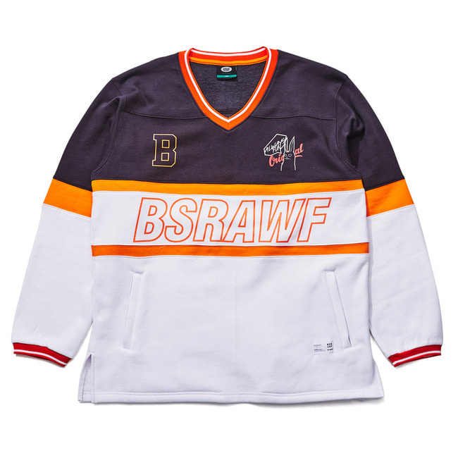 BSRAWF CATCH ON PULLOVER CHARCOAL/WHITE