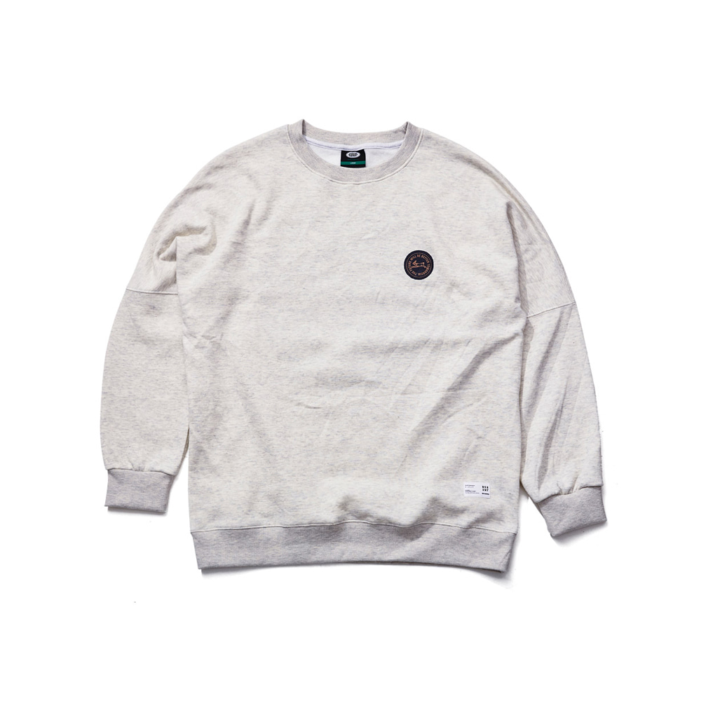 BSRABBIT HANG LOOSE CREWNECK OATMEAL