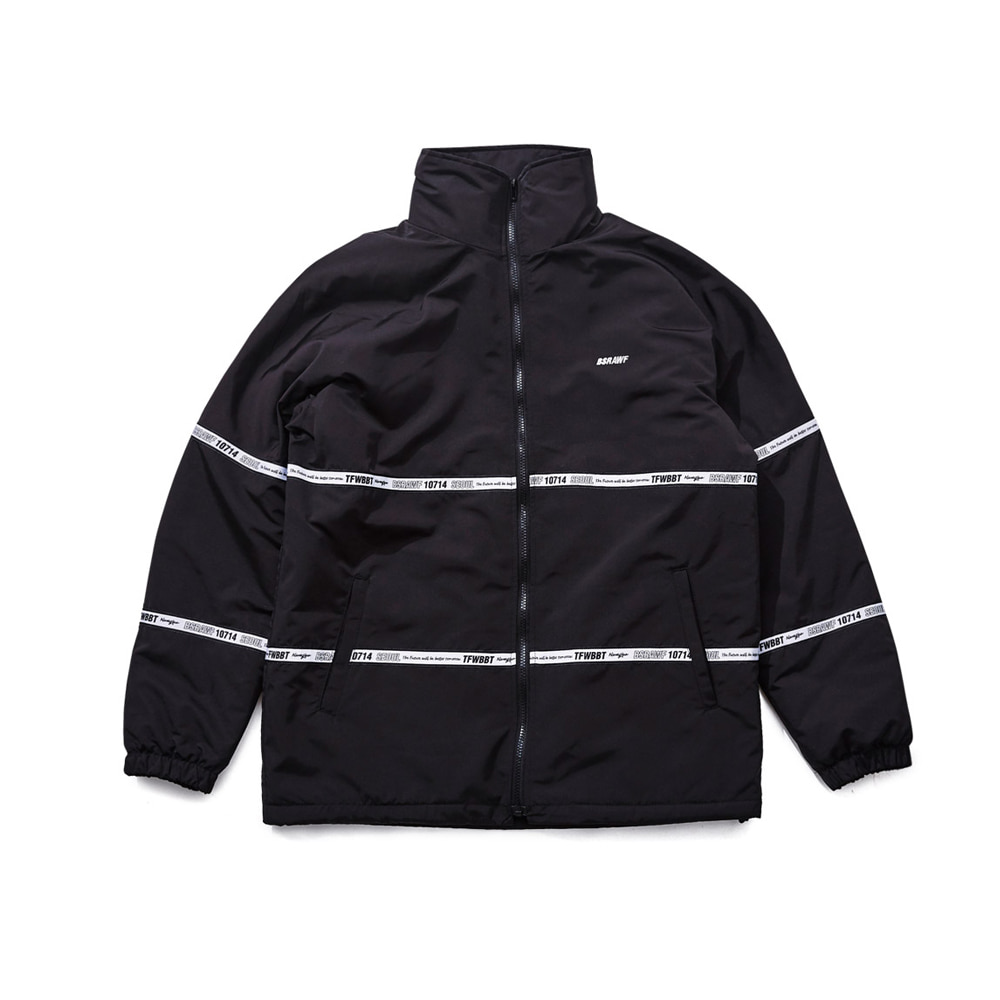 BSRABBIT TIDY HN STADIUM JACKET BLACK