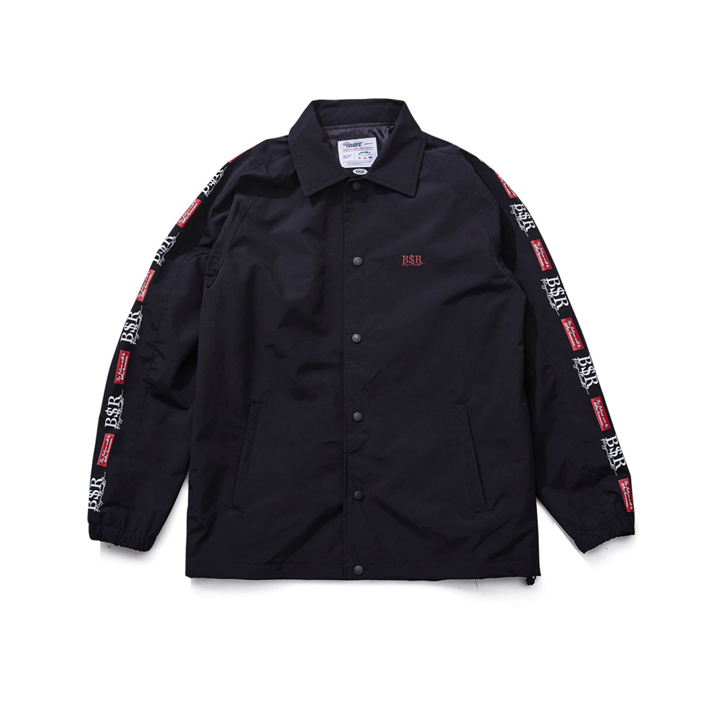 BSRABBIT BSR COACH JACKET BLACK