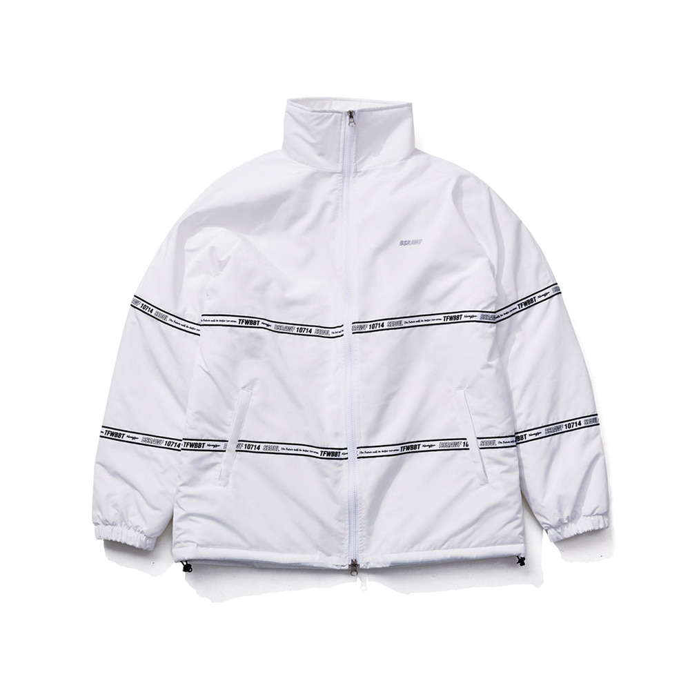 BSRABBIT TIDY HN STADIUM JACKET WHITE
