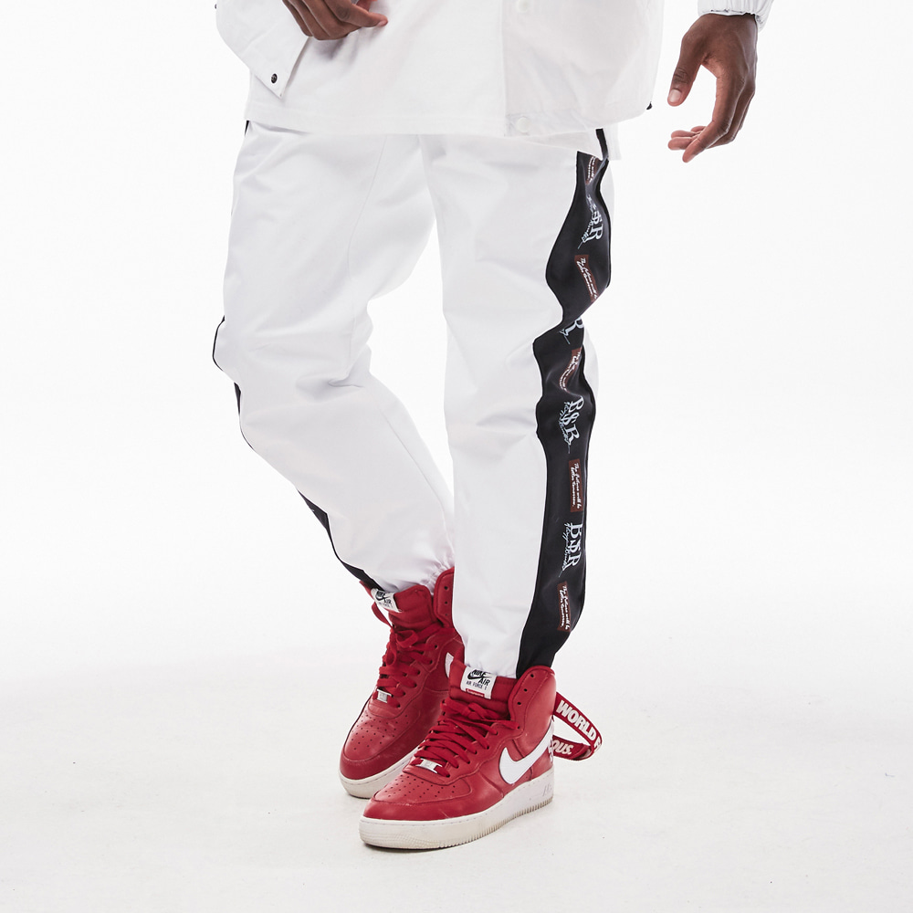 BSRABBIT BSR WATERPROOF JOGGER PANTS WHITE