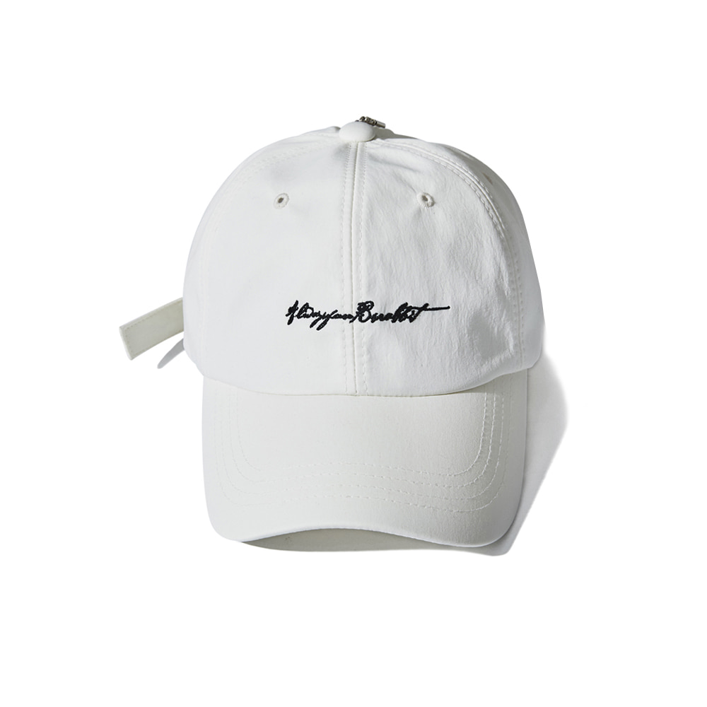 BSR OPEN ZIPPER CAP WHITE