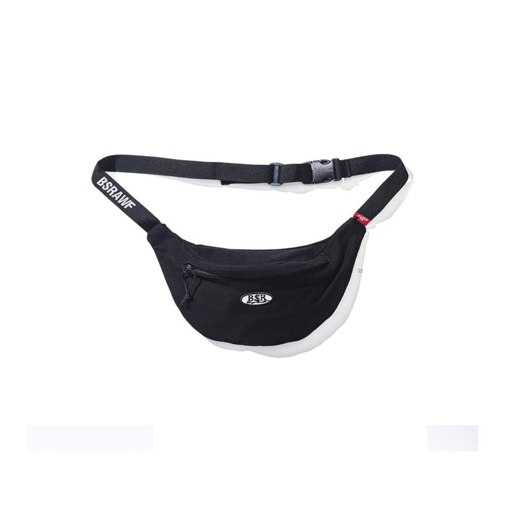 BSRABBIT BSR COTTON WAISTBAG BLACK